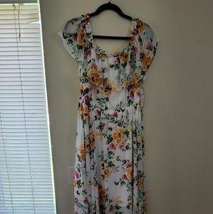 Summer off shoulder maxi dress